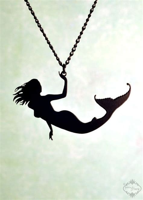 mermaid silhouette tattoo 25 best ideas about necklace designs on
