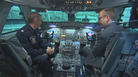 Air Force One Interior by Inside Air Force One Cockpit Video Abc News