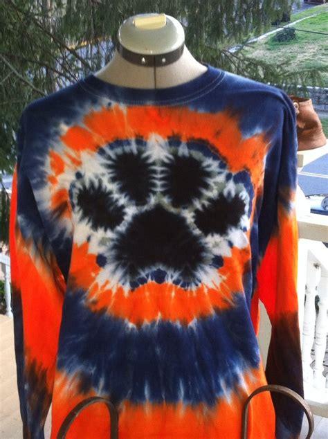 tiedye paw print   rubber bands tye dye shirts