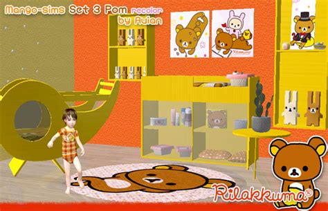 Custom Rillakuma mod the sims rilakkuma nursery