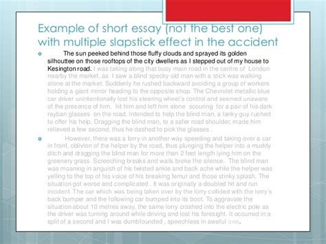 An Incident Essay by Report Essay