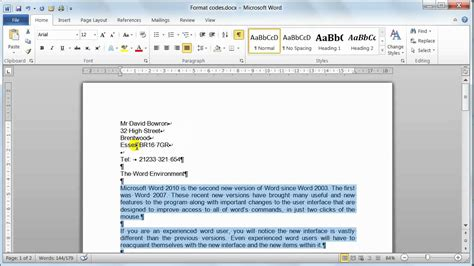 how to use a template in word 2010 microsoft word 2010 format codes tutorial 6