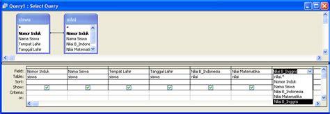 cara membuat query access 2010 membuat query database di ms access tutorial tik ptd