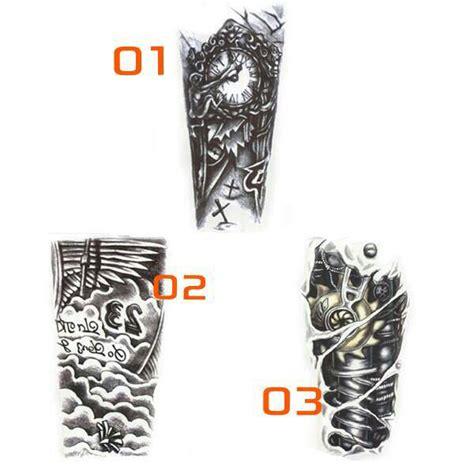 tato keren pada lengan jual stiker lengan tato waterproof 3d hitam keren 7