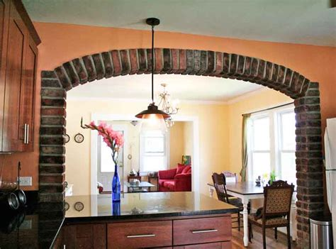 Kitchen Arch Images Brick Veneer On Arched Kitchen Opening