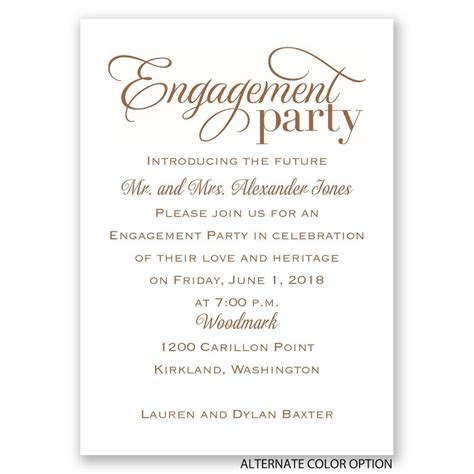 Engagement Invitation by Classic Style Mini Engagement Invitation