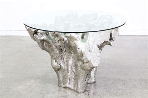 Tree Trunk Dining Table Vintage Silver Fiberglass Tree Trunk Dining Table Vintage Supply Store