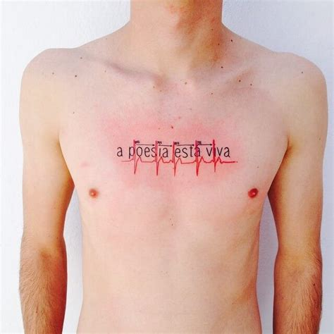 heartbeat tattoo on chest meaning heartbeat tattoos for men ideas and inspiration for guys