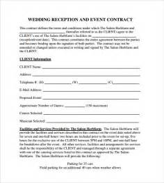 Event Planner Agreement Template Event Contract Template 9 Download Documents In Pdf