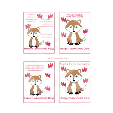s day what does the say what does the fox say valentines for 5 00 valentines