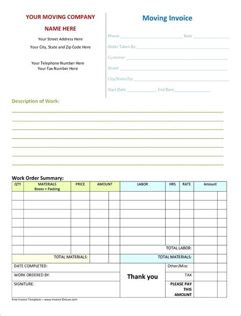 excel invoice template mac template excel invoice template for mac