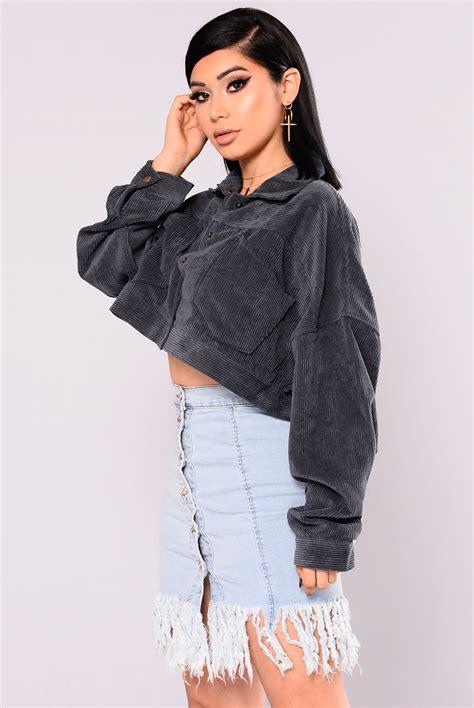 Jaket Crop Jeket Wanita analia cropped jacket navy