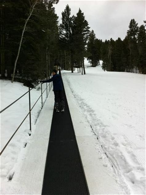 this is the longer magic carpet lift two picture of