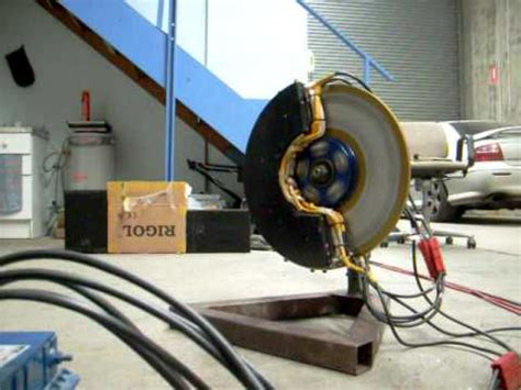 electric induction and electric flux electric car axial flux 3 phase ac induction wheel motor test