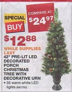 42 pre lit led decorated porch christmas tree w