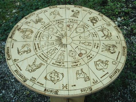 Zodiac Table by Zodiac Signs And Symbol Tarot Reading Table Portable