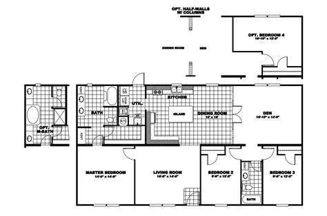 clayton homes floor plans manufactured home floor plan 2010 clayton summit 29sum32563bh10