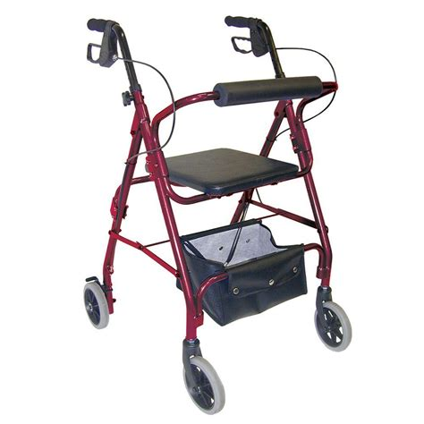 rollator with seat dmi ultra lightweight aluminum rollator with adjustable