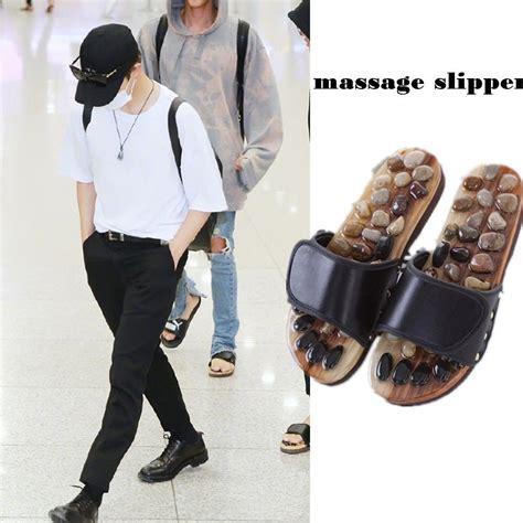 Sandal Kpop Big us 10 99 allkpoper kpop bts jungkook slipper airport