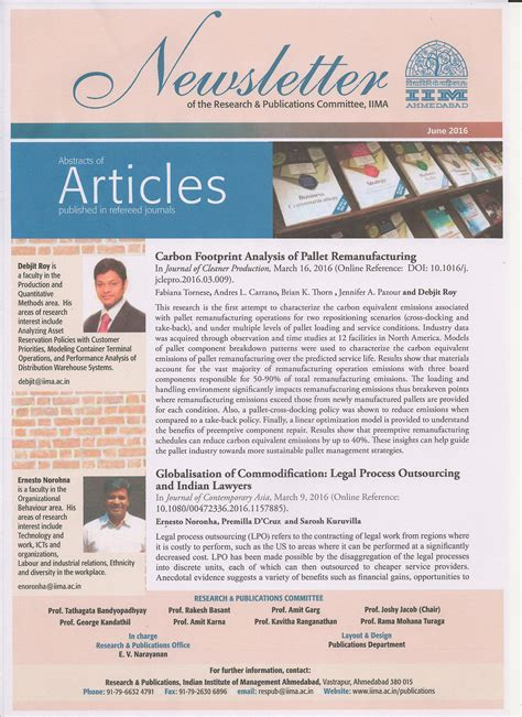 web templates for articles newsletter iima