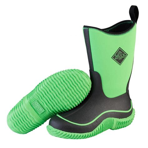 youth muck boots muck boots kbh 300 kid s hale outdoor sport boot neon