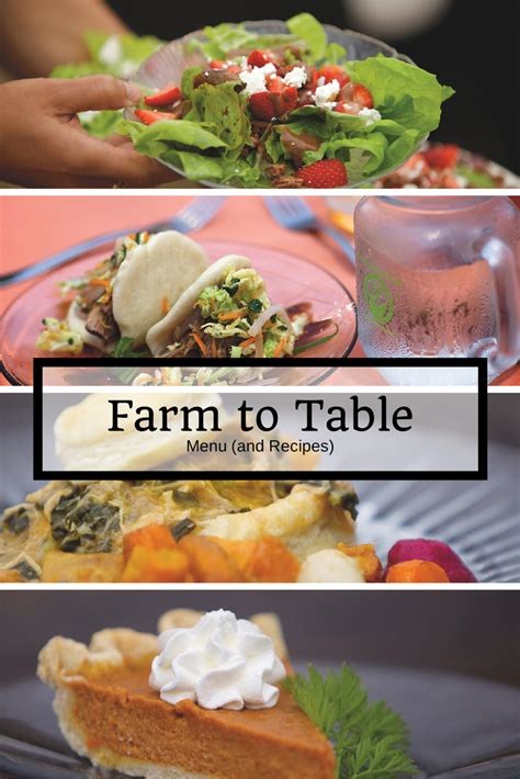 farm to table the farm to table dinner home is here
