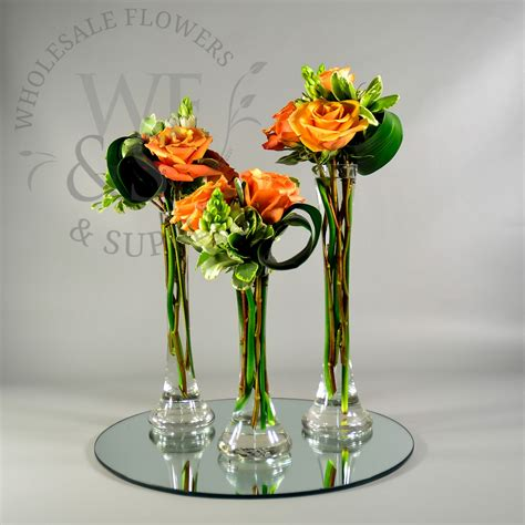 Mini Vases Bulk by Mini Glass Tower Vase 10 Quot Wholesale Flowers And Supplies