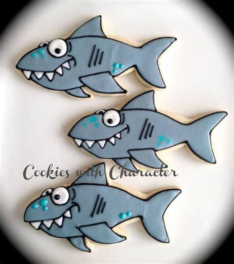 baby shark cookies shark cookie sugar cookies pinterest sharks