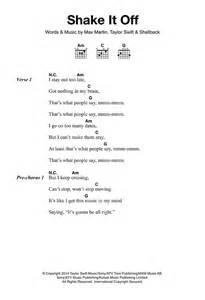 Taylor swift sheet music shake it off