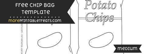 Chip Bag Template Medium Free Chip Bag Template