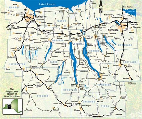 finger lakes ny map regional facts in the finger lakes