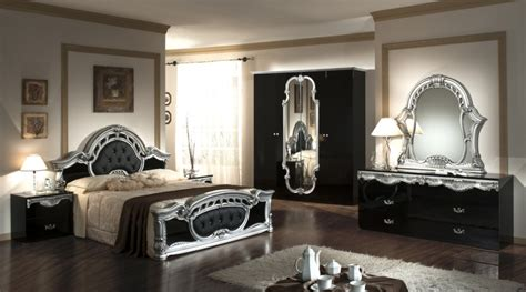 italian bedroom set rococo italian classic black silver bedroom set