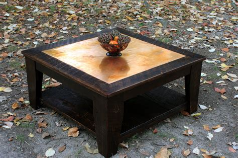 36 square end table copper coffee table with shelf 36 x 36 square reclaimed