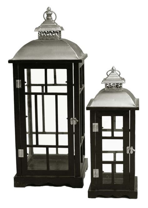 large hurricane ls for candles outside candle lanterns