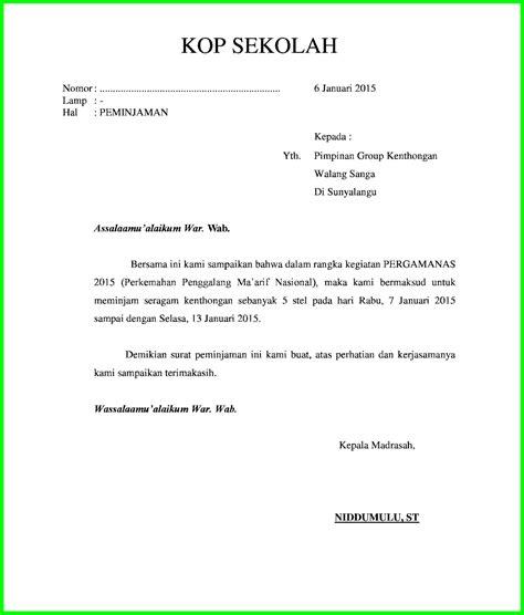 surat peminjaman seragam file doc niddumulu