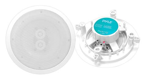 Ceiling Speaker Sound Proofing by Pyle Pwrc52 5 25 Quot Weatherproof Stereo Ceiling Speaker Each