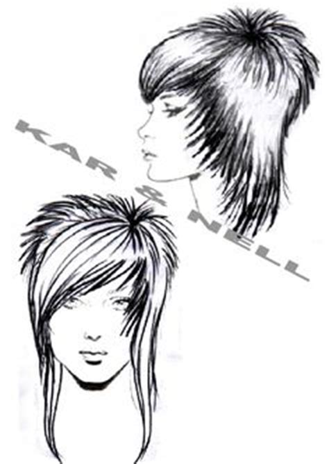 diagram of hair cuts from the 60 kar nell