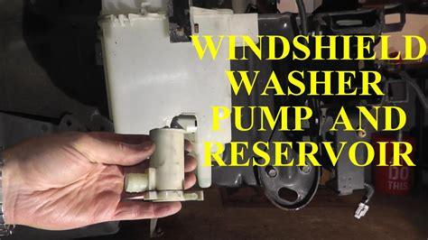 replace  windshield washer pump  reservoir
