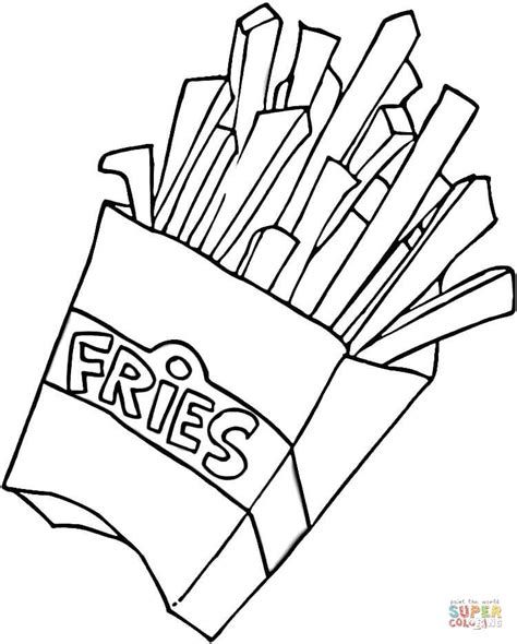 french fries coloring page free printable coloring pages
