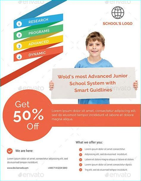 20 Professional Educational Psd School Flyer Templates Professional Educational Psd School Education Template