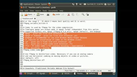 tutorial motion ubuntu how to use your webcam as a security camera with ubuntu