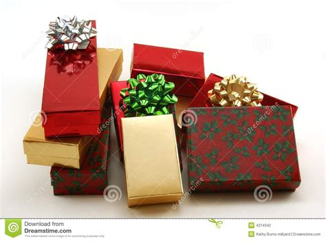 christmas packages stock photography image 4214342