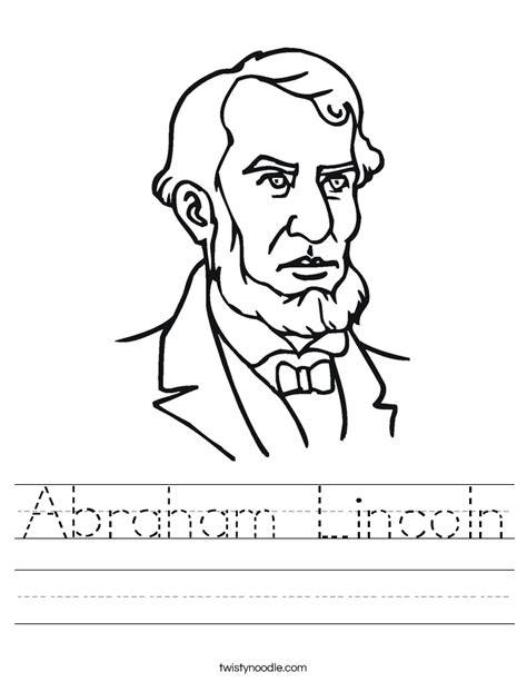 abraham lincoln coloring pages for kindergarten worksheets abraham lincoln worksheets opossumsoft