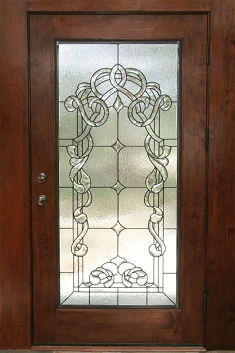 Beveled Stained Glass Scottish Stained Glass Beveled Glass Door
