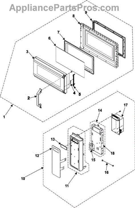 samsung microwave parts diagram samsung de94 01119a assy appliancepartspros