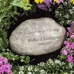 personalized memorial garden stones in loving memory