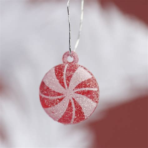 miniature peppermint candy ornaments christmas