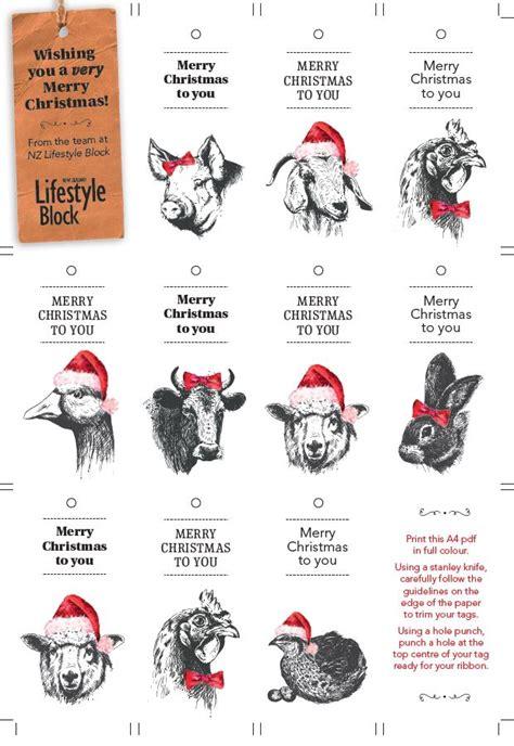 printable labels nz printable animal christmas gift tags thisnzlife