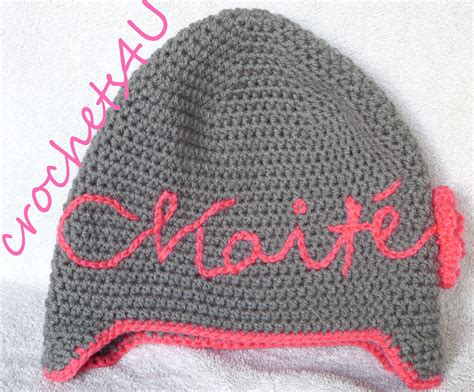 crochet name on hat youtube