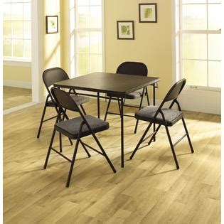 cosco 5 card table set 5 vinyl table and chairs entertain with sears
